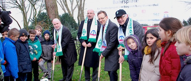Der erste Schritt ist gemacht: Peter Nowack, Andreas Dill, Holger Münch und Klaus-Dieter Fischer (v. li.)