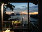 Maritime Momente: Abendlicher Blick vom Bootshaus Blumenthal auf die Weser (Foto: Thomas Grziwa)