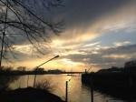 Maritime Momente: Blick vom Bootshaus Blumenthal auf die Weser (Foto: Thomas Grziwa)