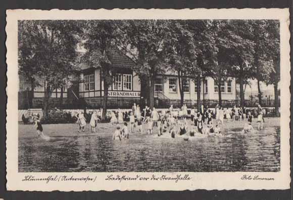 """Nur noch alte Fotos bezeugen, wie attraktiv die """"Strandhalle"""" in Bremen-Blumenthal früher war..."""