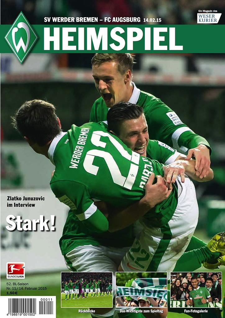 Die neueste Ausgabe des Werder HEIMSPIEL Magazin