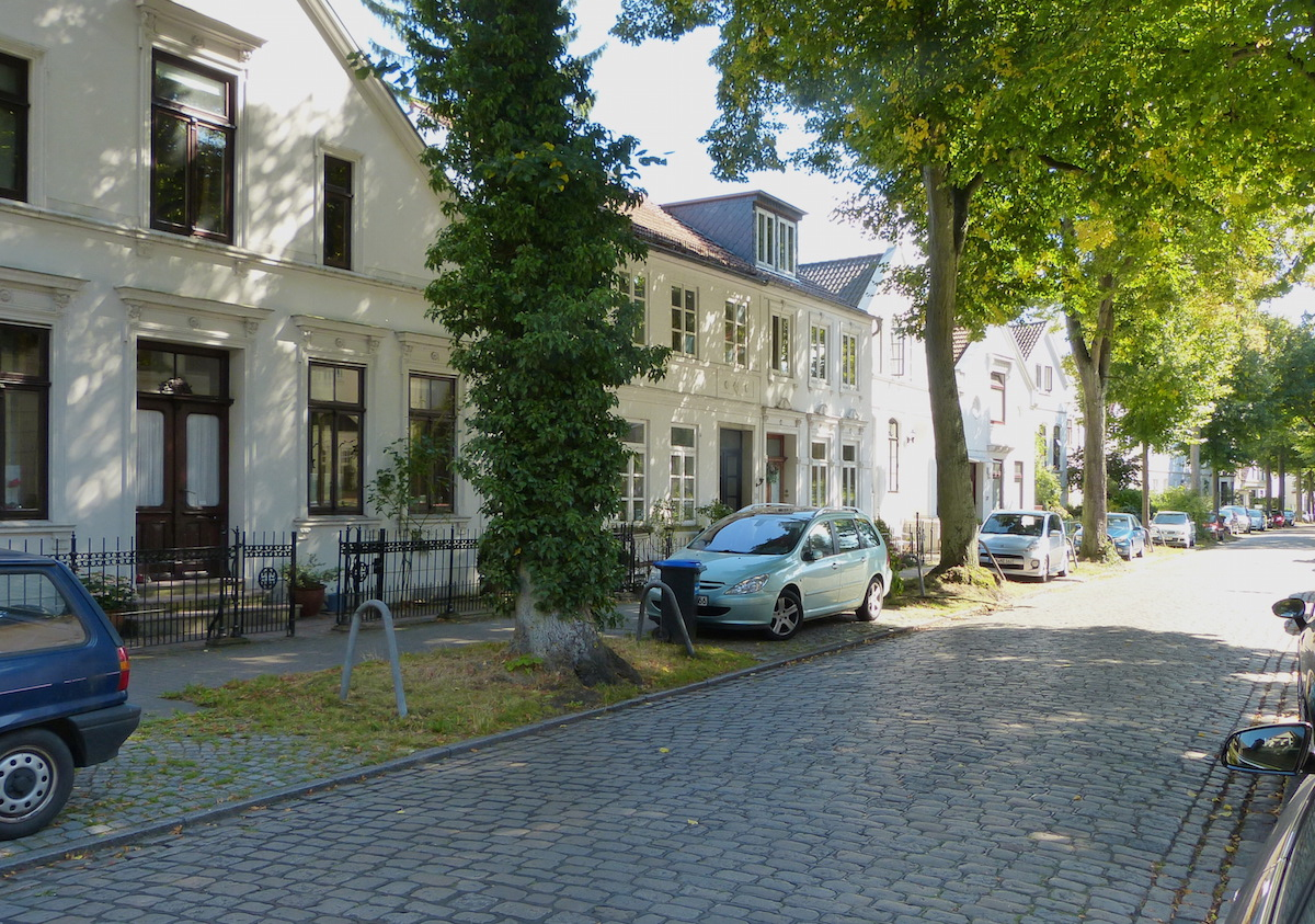 Alte Kapitänshäuser in Bremen-Vegesack (Foto: WikiMedia)